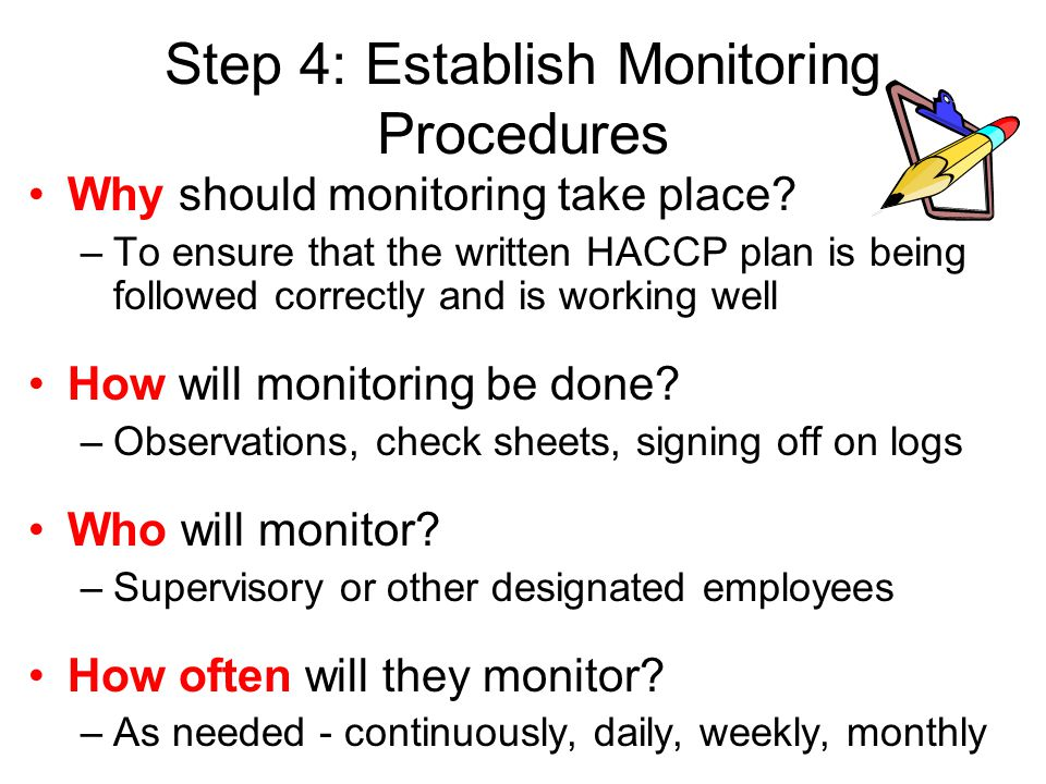 Step 4: Establish Monitoring Procedures