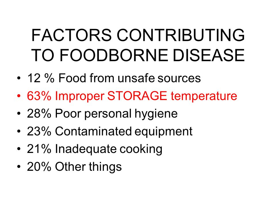 FACTORS CONTRIBUTING TO FOODBORNE DISEASE