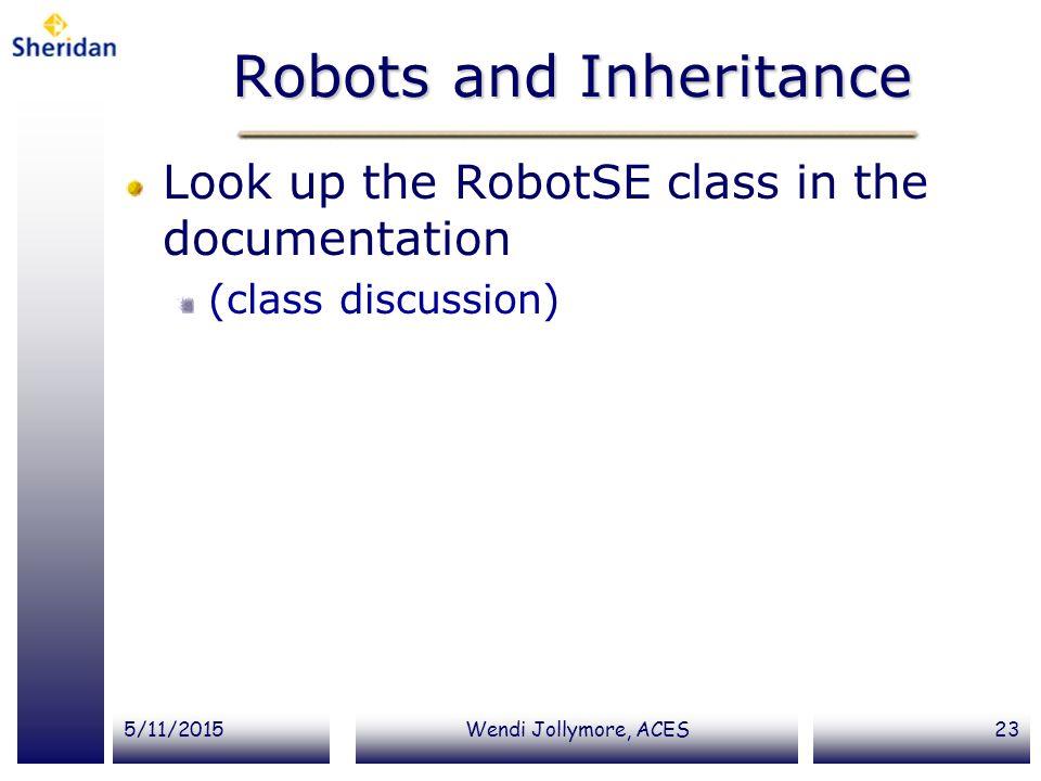 Robots and Inheritance