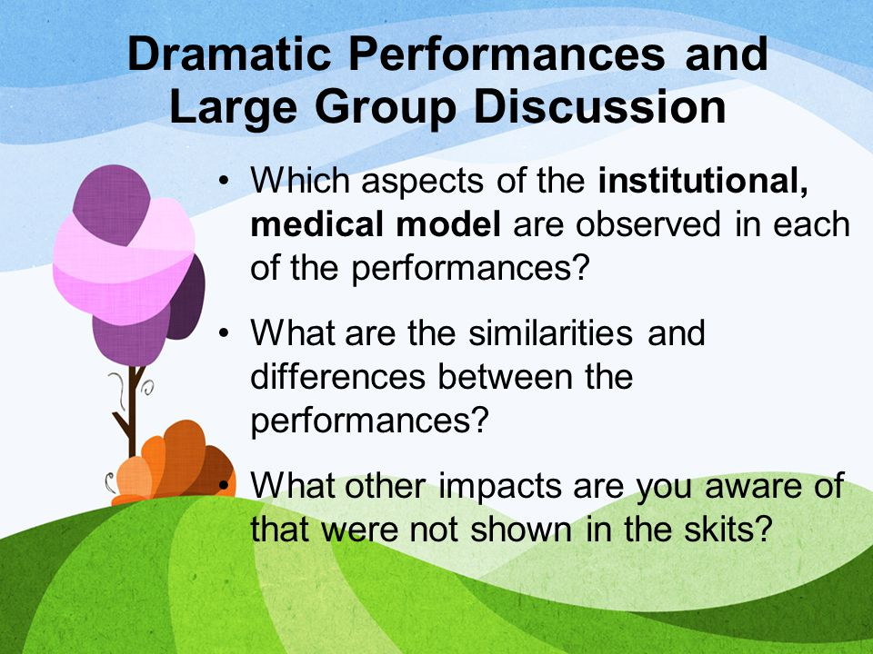Dramatic Performances and Large Group Discussion