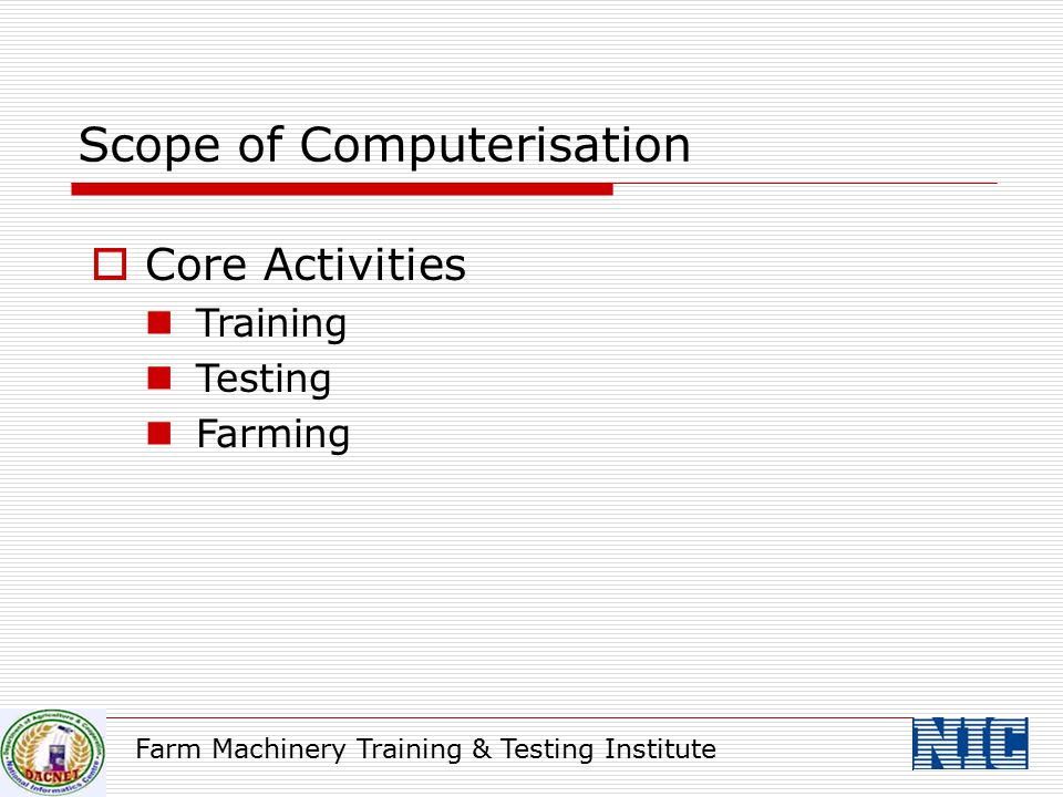 Scope of Computerisation