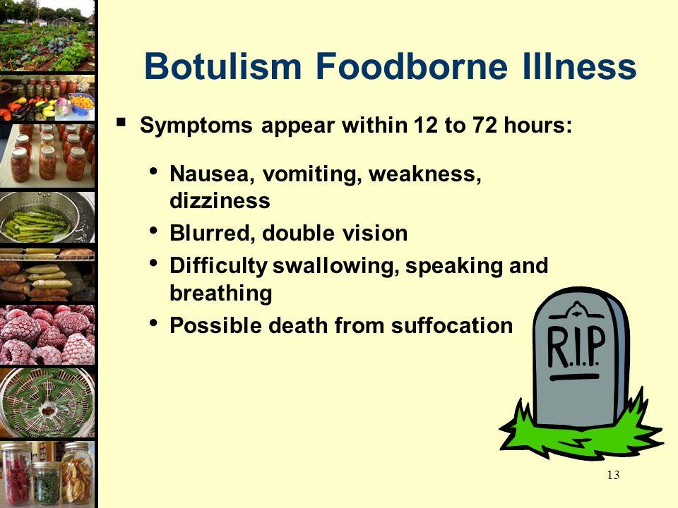 Botulism Foodborne Illness