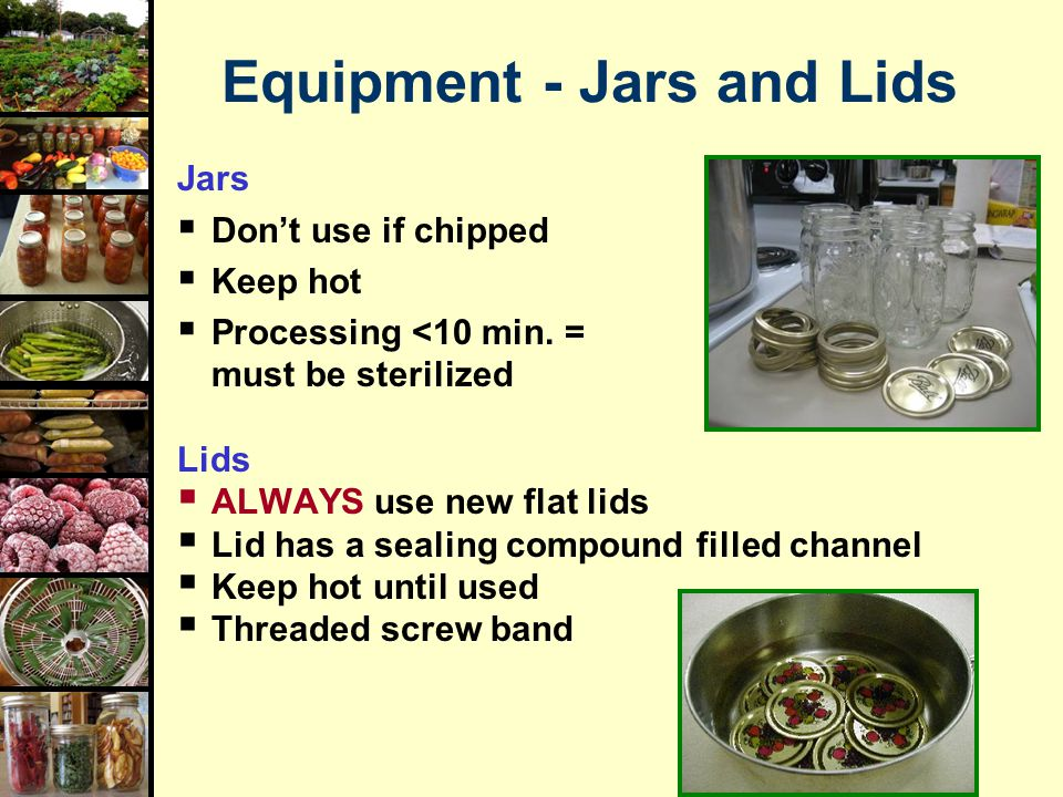 Equipment - Jars and Lids