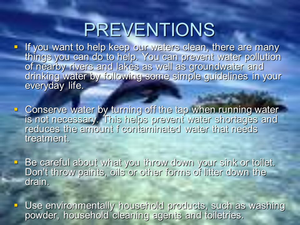 PREVENTIONS