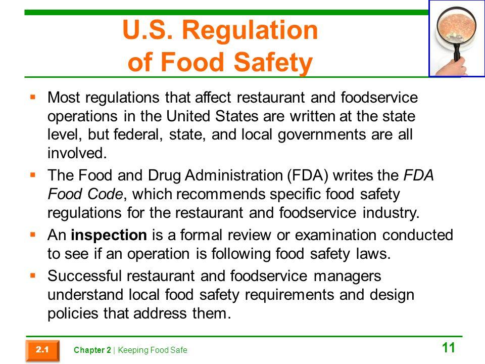 U.S. Regulation of Food Safety