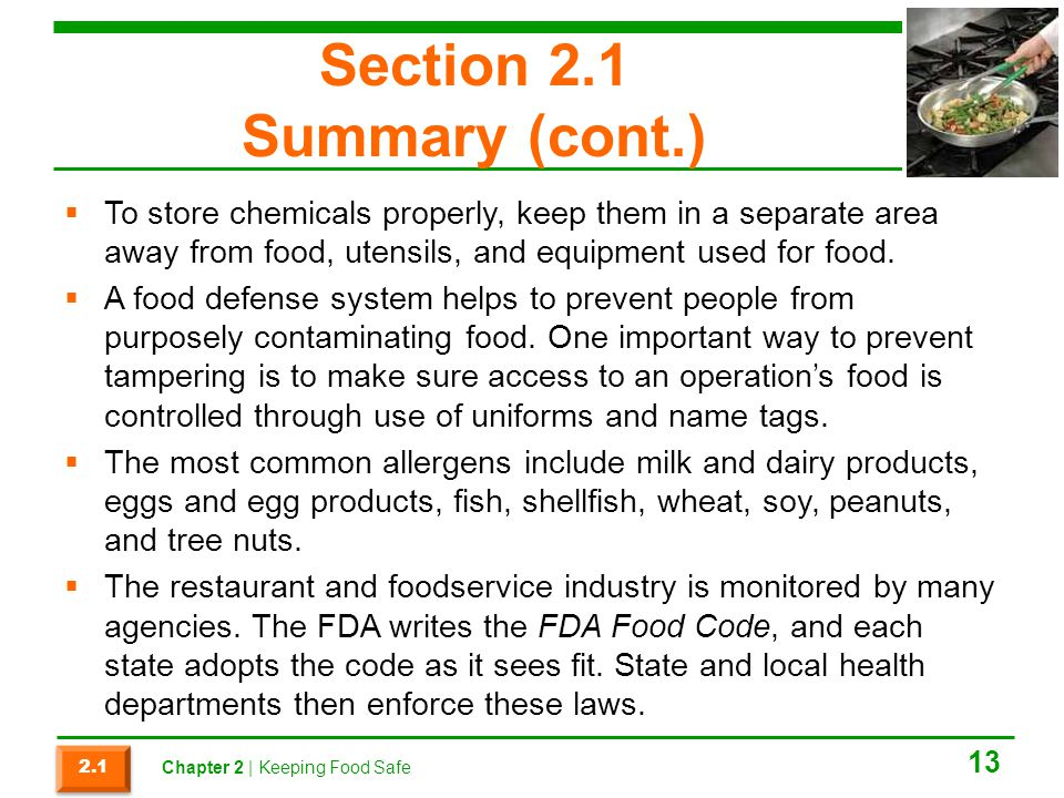Section 2.1 Summary (cont.)