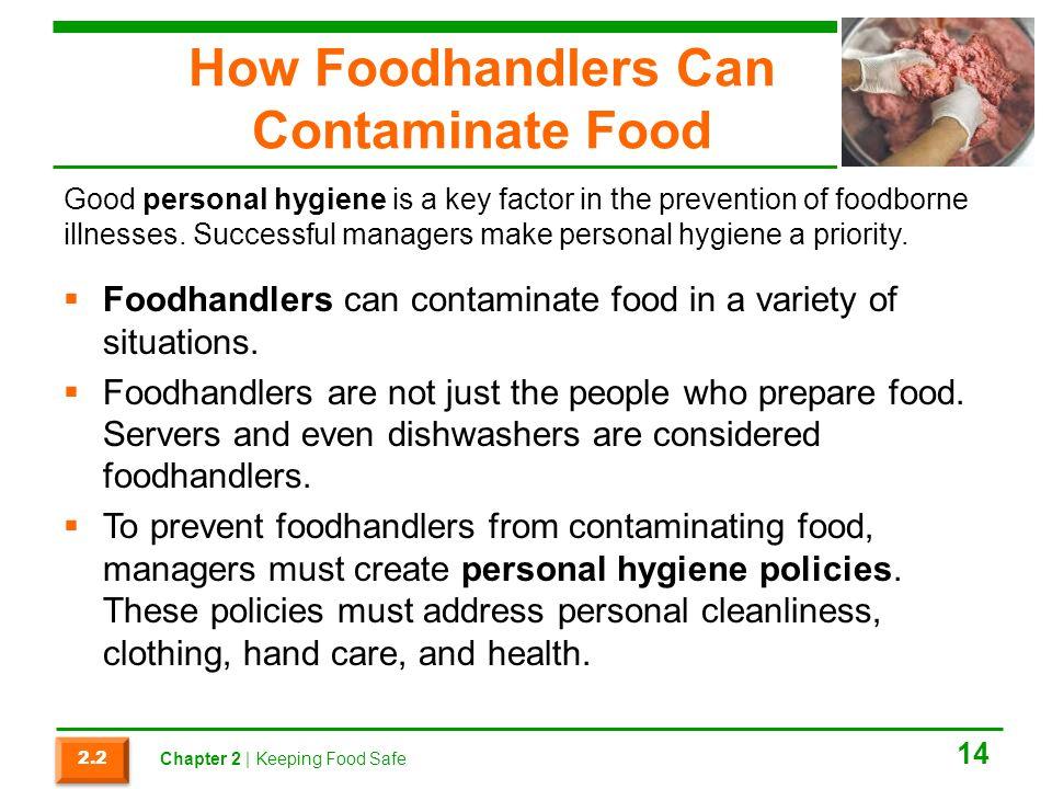 How Foodhandlers Can Contaminate Food