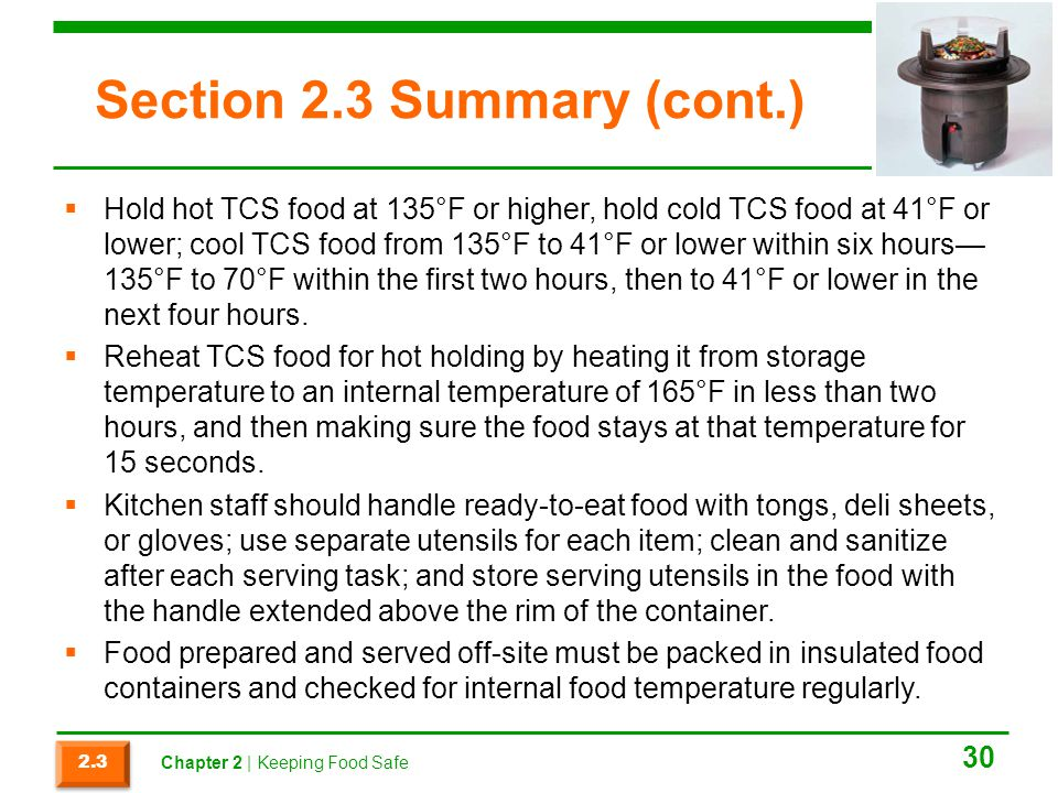 Section 2.3 Summary (cont.)
