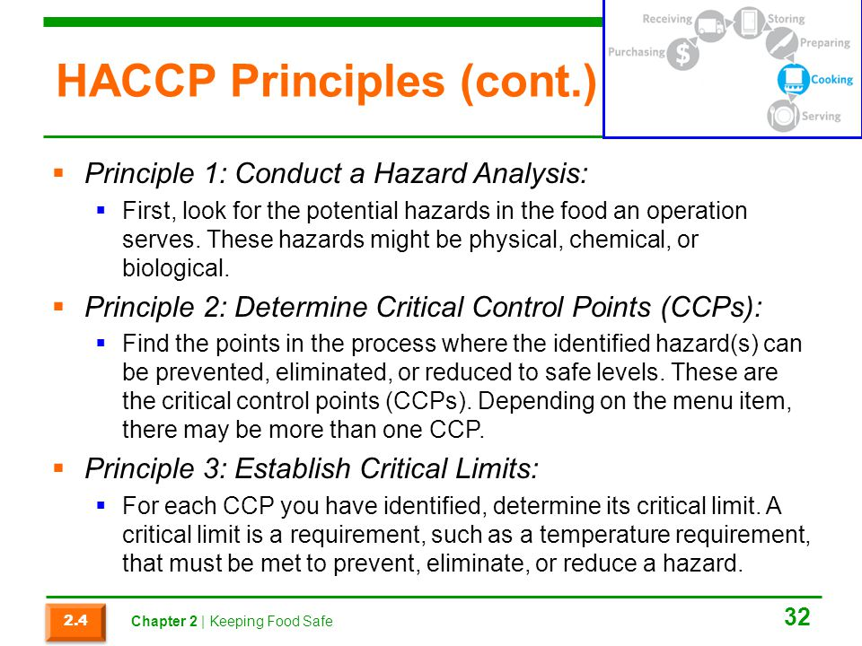HACCP Principles (cont.)