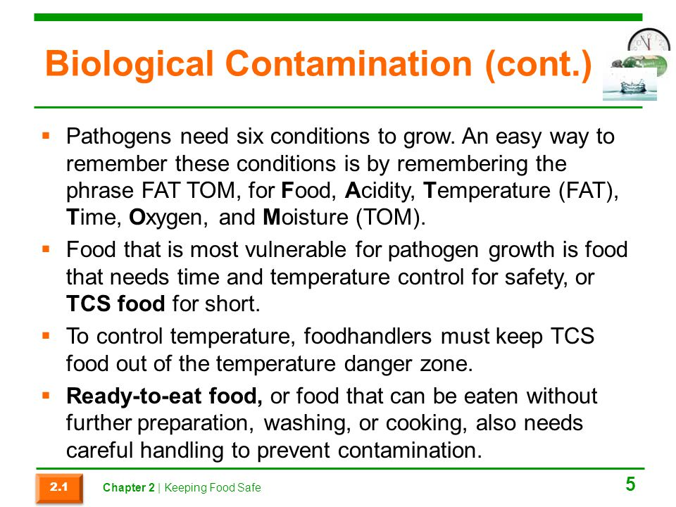 Biological Contamination (cont.)