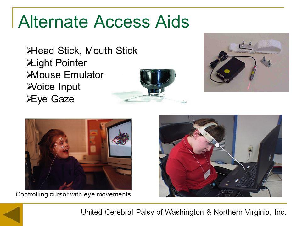 Alternate Access Aids Head Stick, Mouth Stick Light Pointer