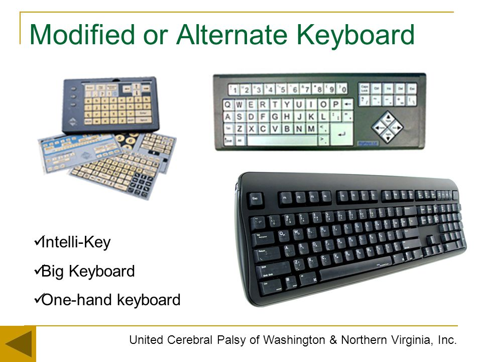 Modified or Alternate Keyboard
