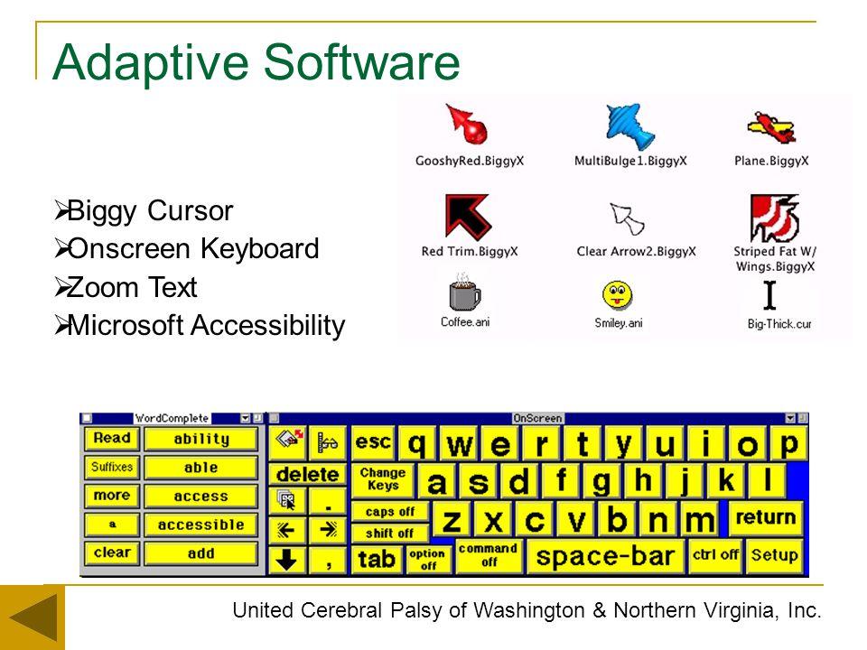 Adaptive Software Biggy Cursor Onscreen Keyboard Zoom Text