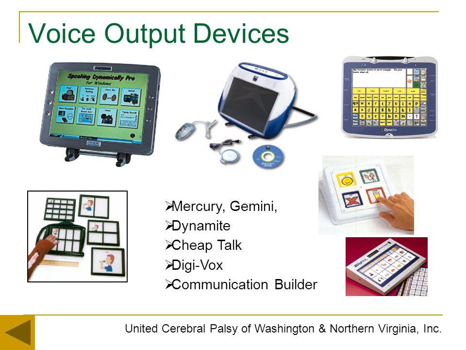 Voice Output Devices Mercury, Gemini, Dynamite Cheap Talk Digi-Vox
