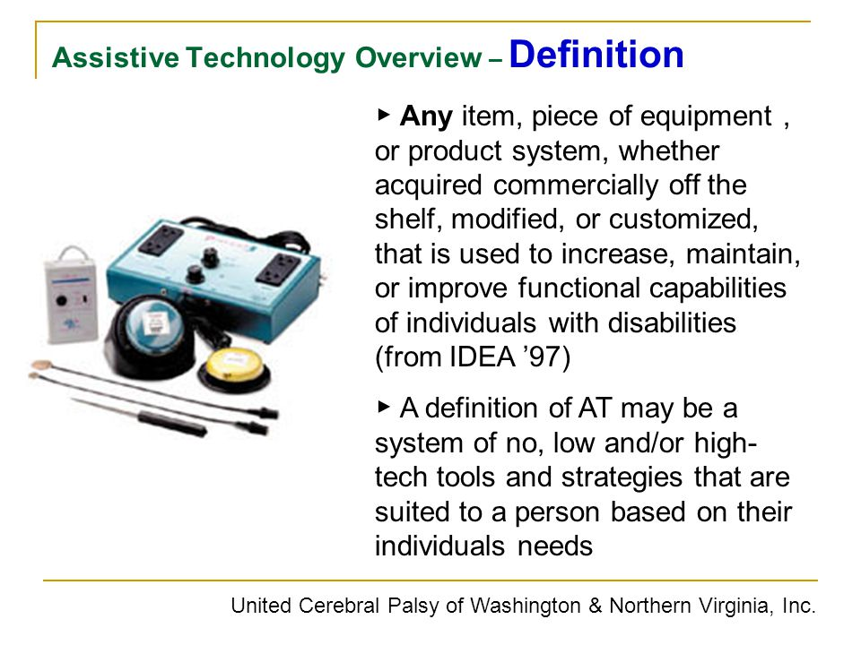 Assistive Technology Overview – Definition