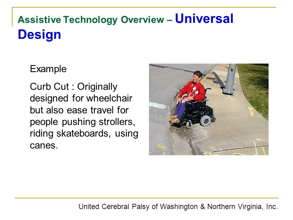 Assistive Technology Overview – Universal Design
