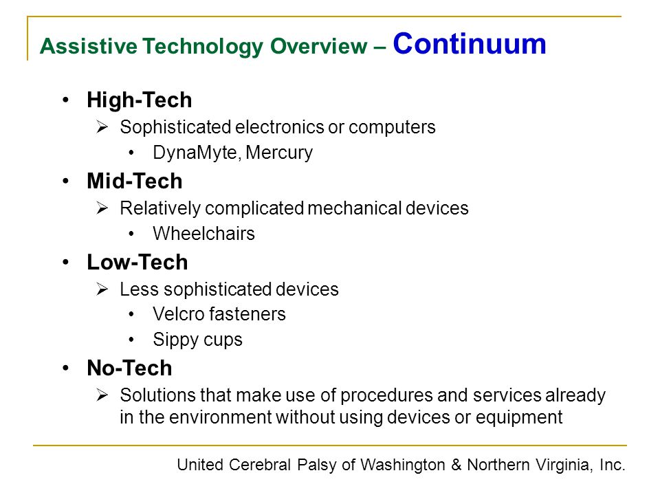 Assistive Technology Overview – Continuum