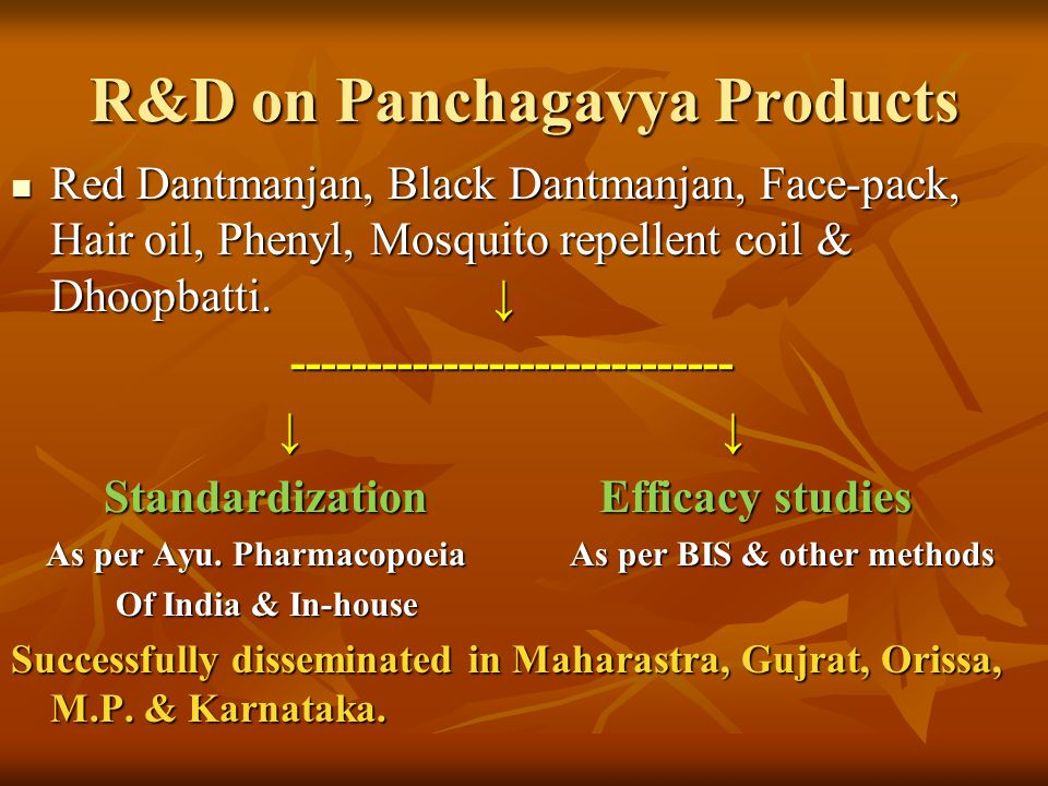 R&D on Panchagavya Products