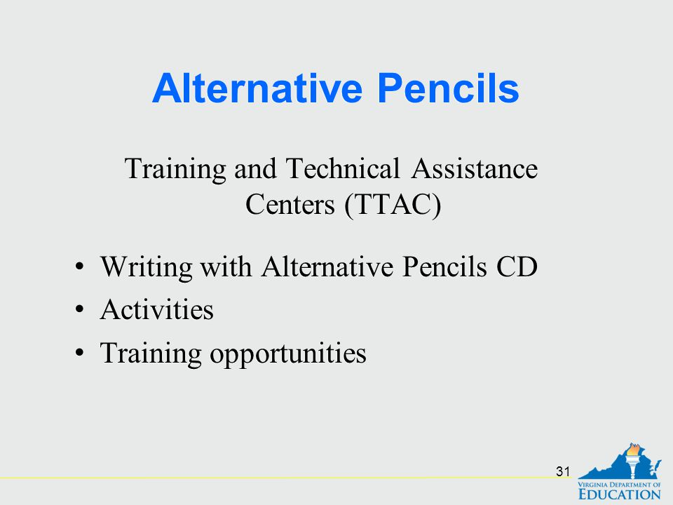 Training and Technical Assistance Centers (TTAC)