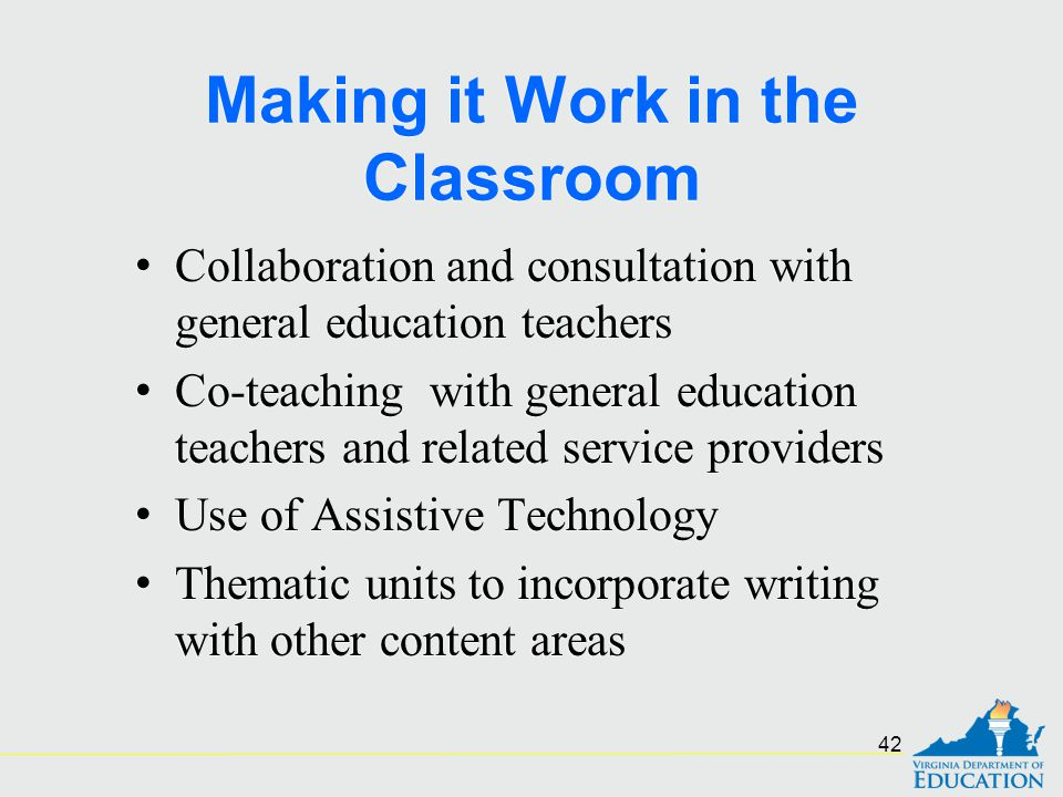 Making it Work in the Classroom
