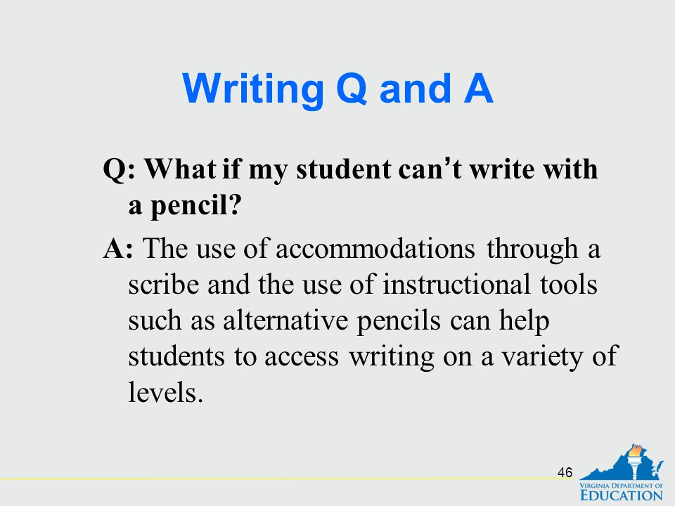Writing Q and A