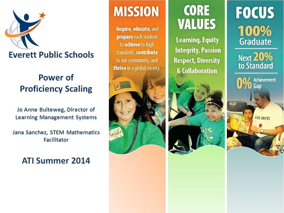Power of Proficiency Scaling ATI Summer 2014