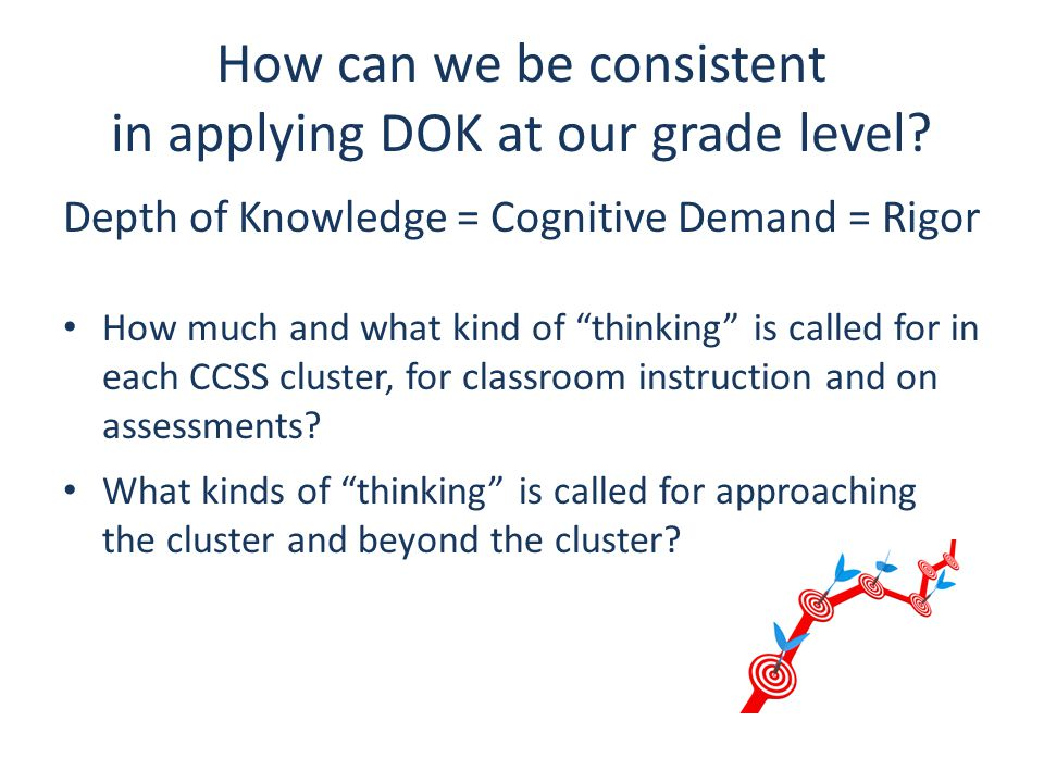 How can we be consistent in applying DOK at our grade level