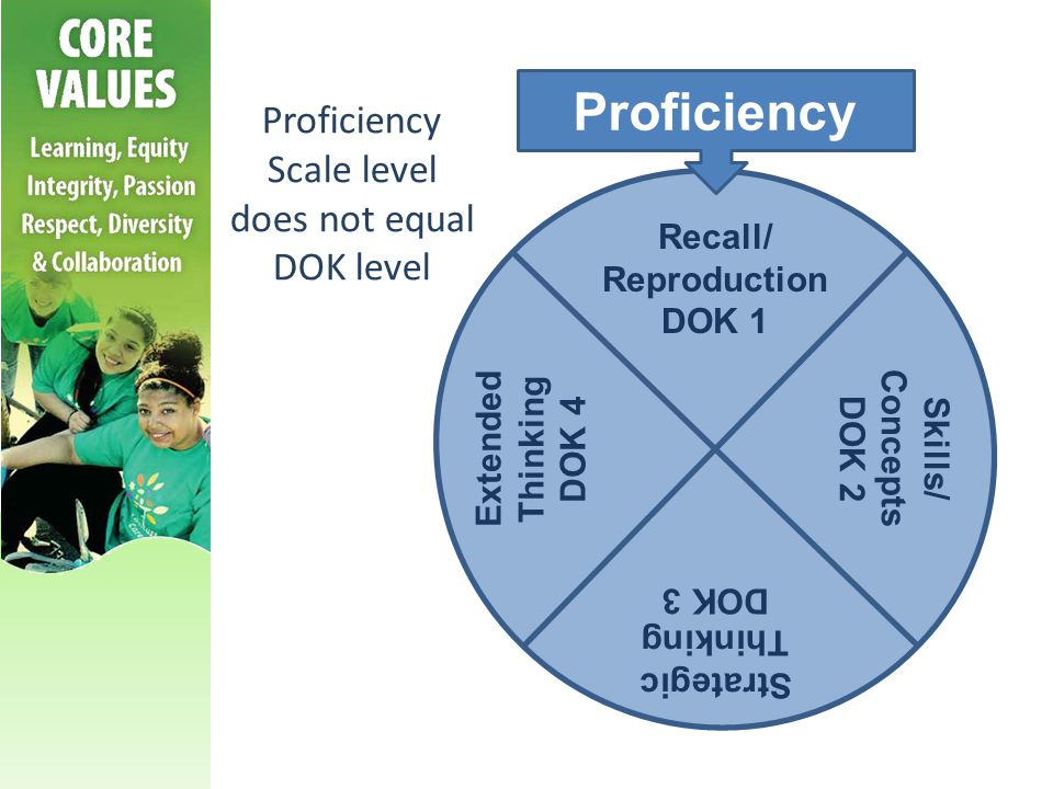Proficiency Scale level