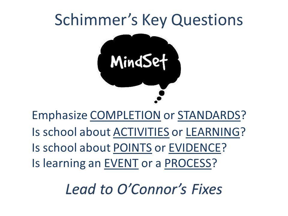 Schimmer's Key Questions