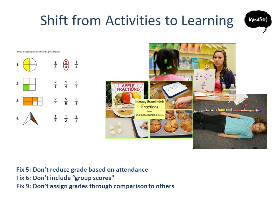 Shift from Activities to Learning