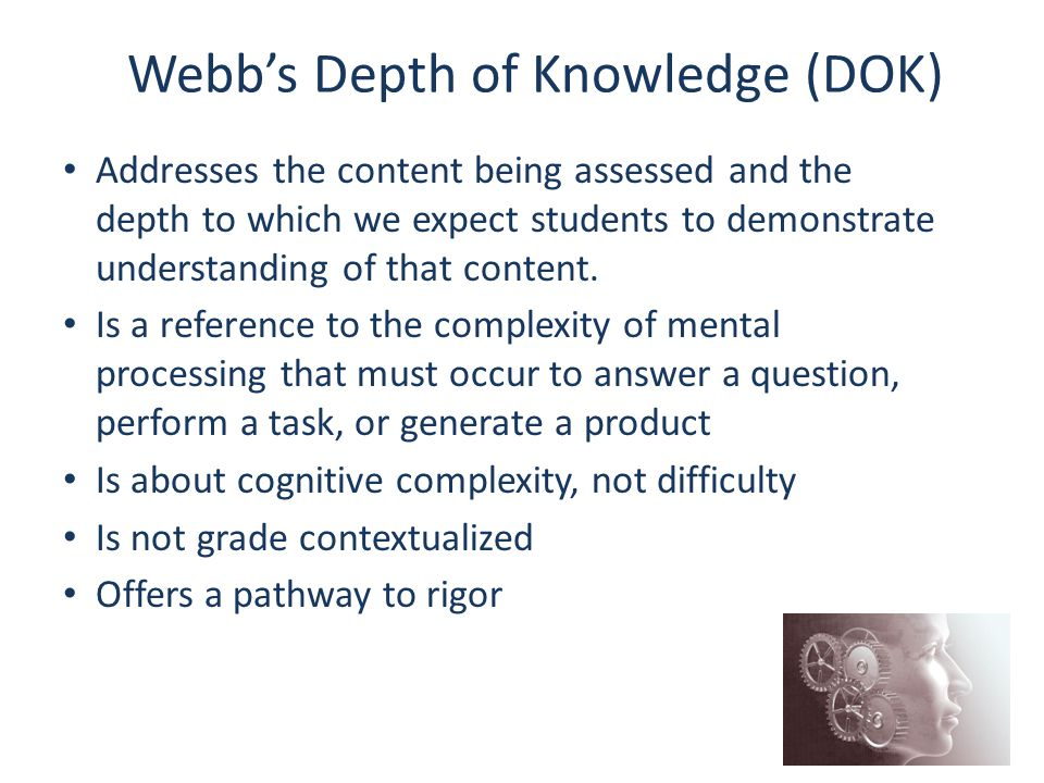 Webb's Depth of Knowledge (DOK)