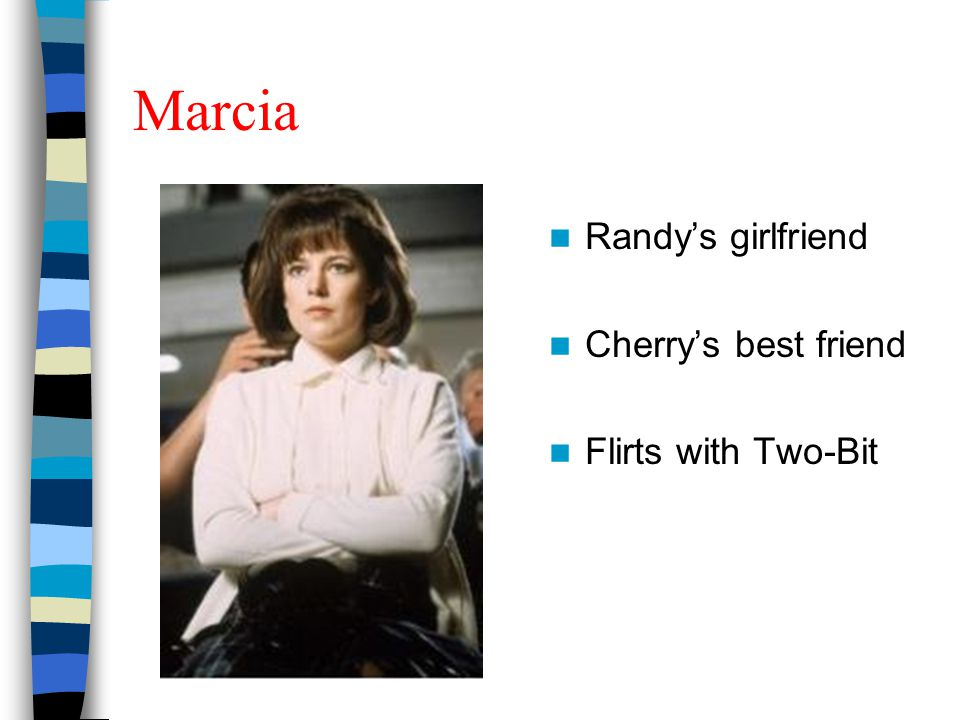 Marcia Randy's girlfriend Cherry's best friend Flirts with Two-Bit