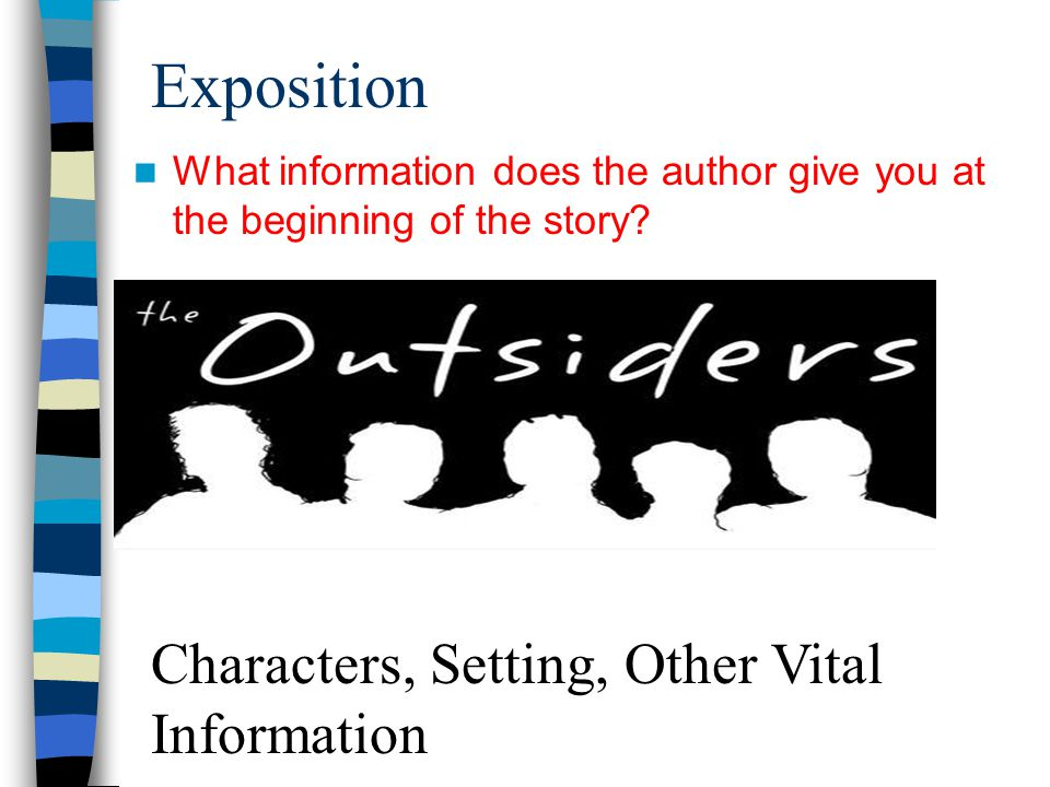 Exposition Characters, Setting, Other Vital Information