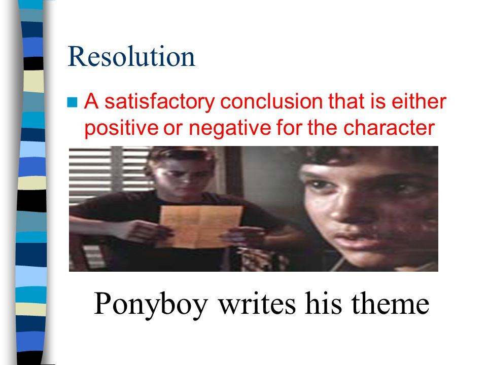 Ponyboy writes his theme