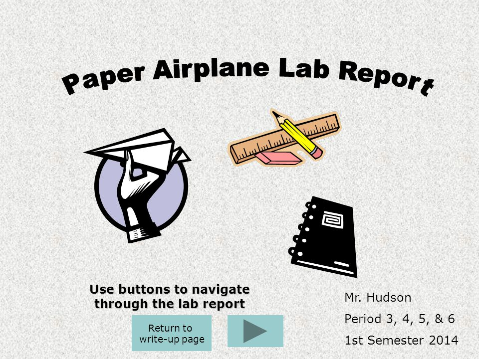 Use buttons to navigate through the lab report