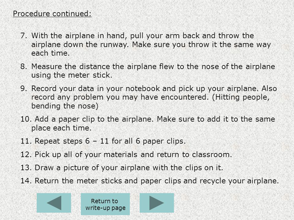 Repeat steps 6 – 11 for all 6 paper clips.