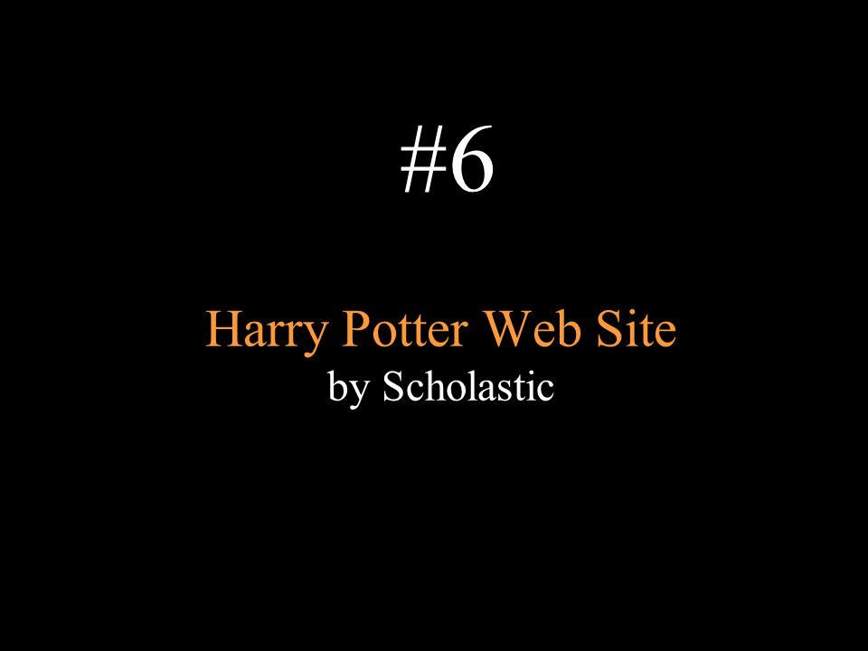 Harry Potter Web Site by Scholastic