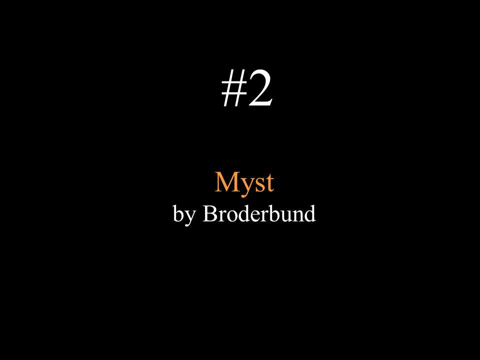 #2 Myst by Broderbund