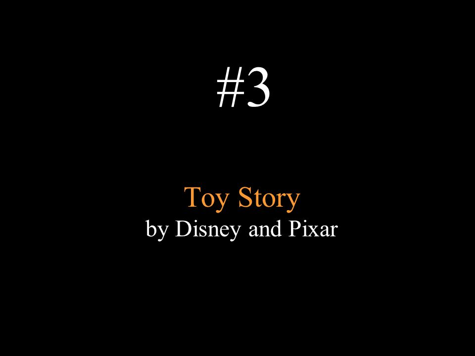 Toy Story by Disney and Pixar