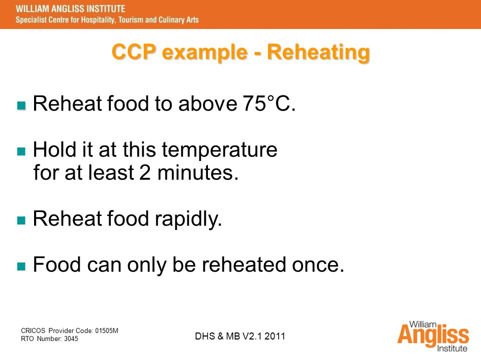 CCP example - Reheating