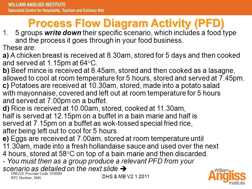 Process Flow Diagram Activity (PFD)