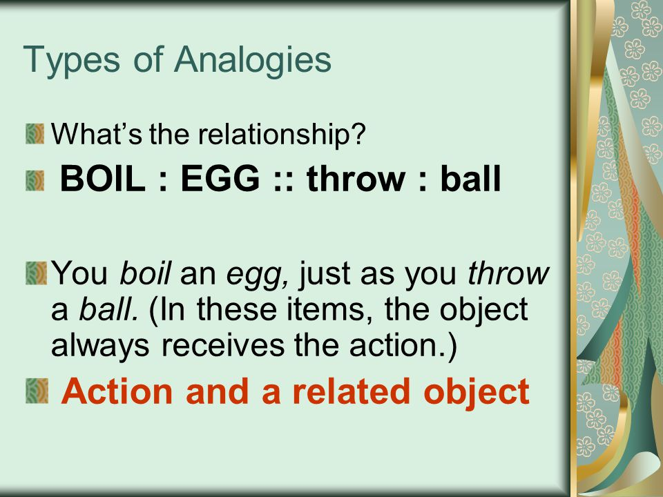 Action and a related object