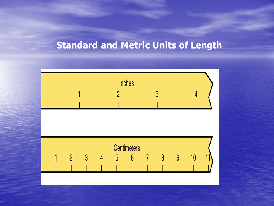 Standard and Metric Units of Length