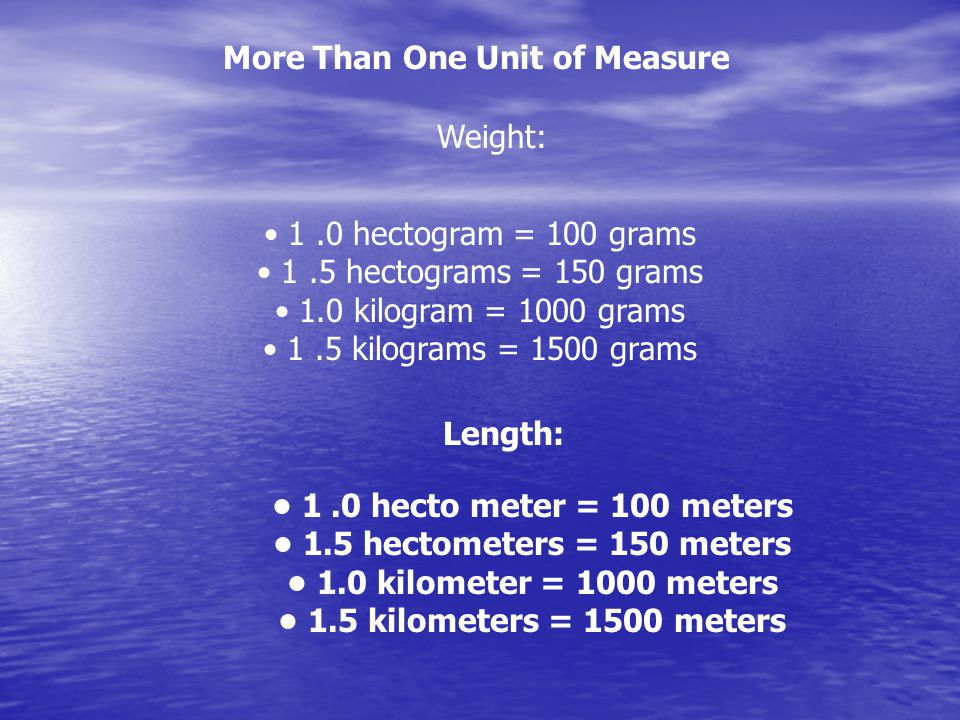 More Than One Unit of Measure
