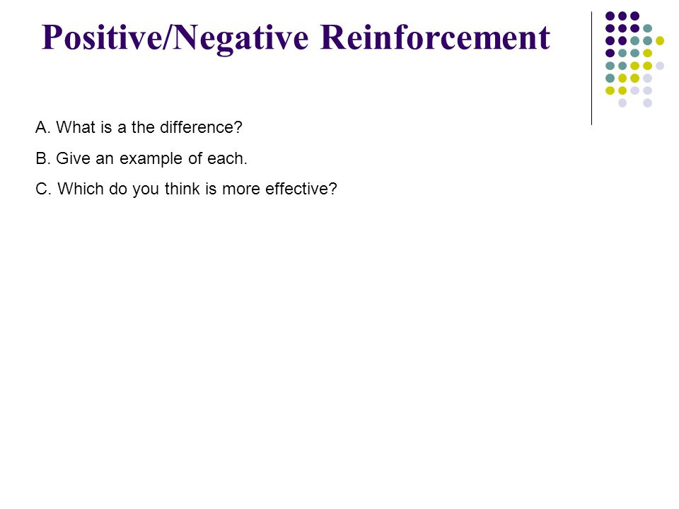 Positive/Negative Reinforcement