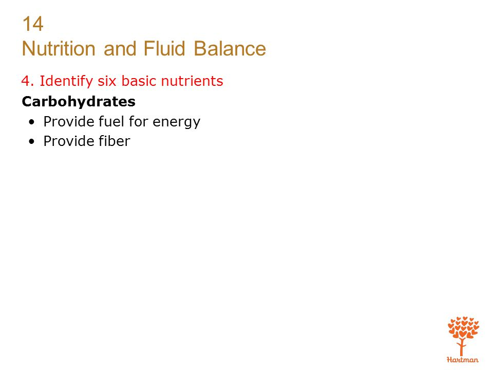 4. Identify six basic nutrients
