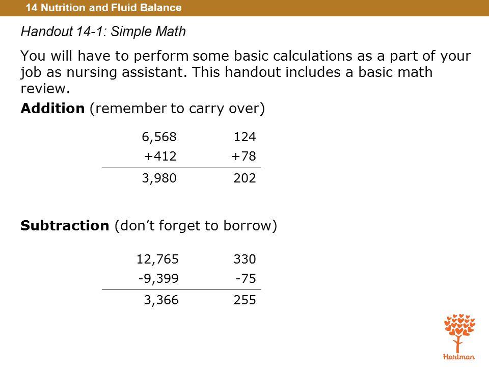Handout 14-1: Simple Math
