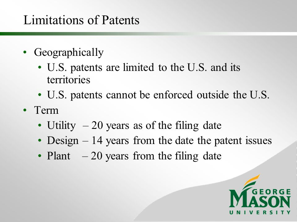 Limitations of Patents