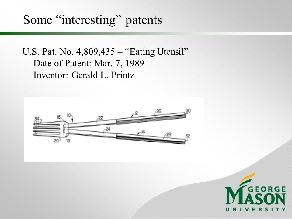 Some interesting patents