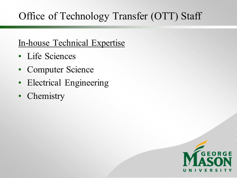 Office of Technology Transfer (OTT) Staff